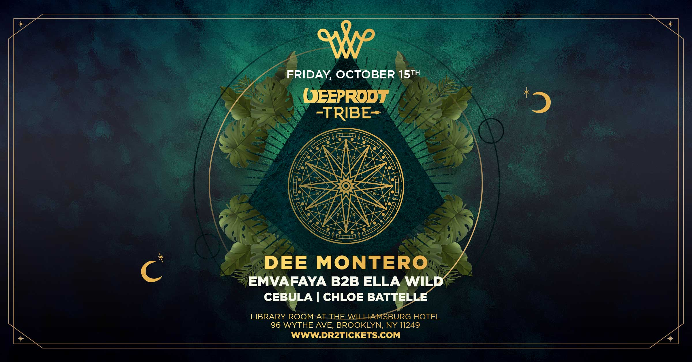 Deep Root Tribe Presents Dee Montero in The Williamsburg Hotel's Library Room [10/15]