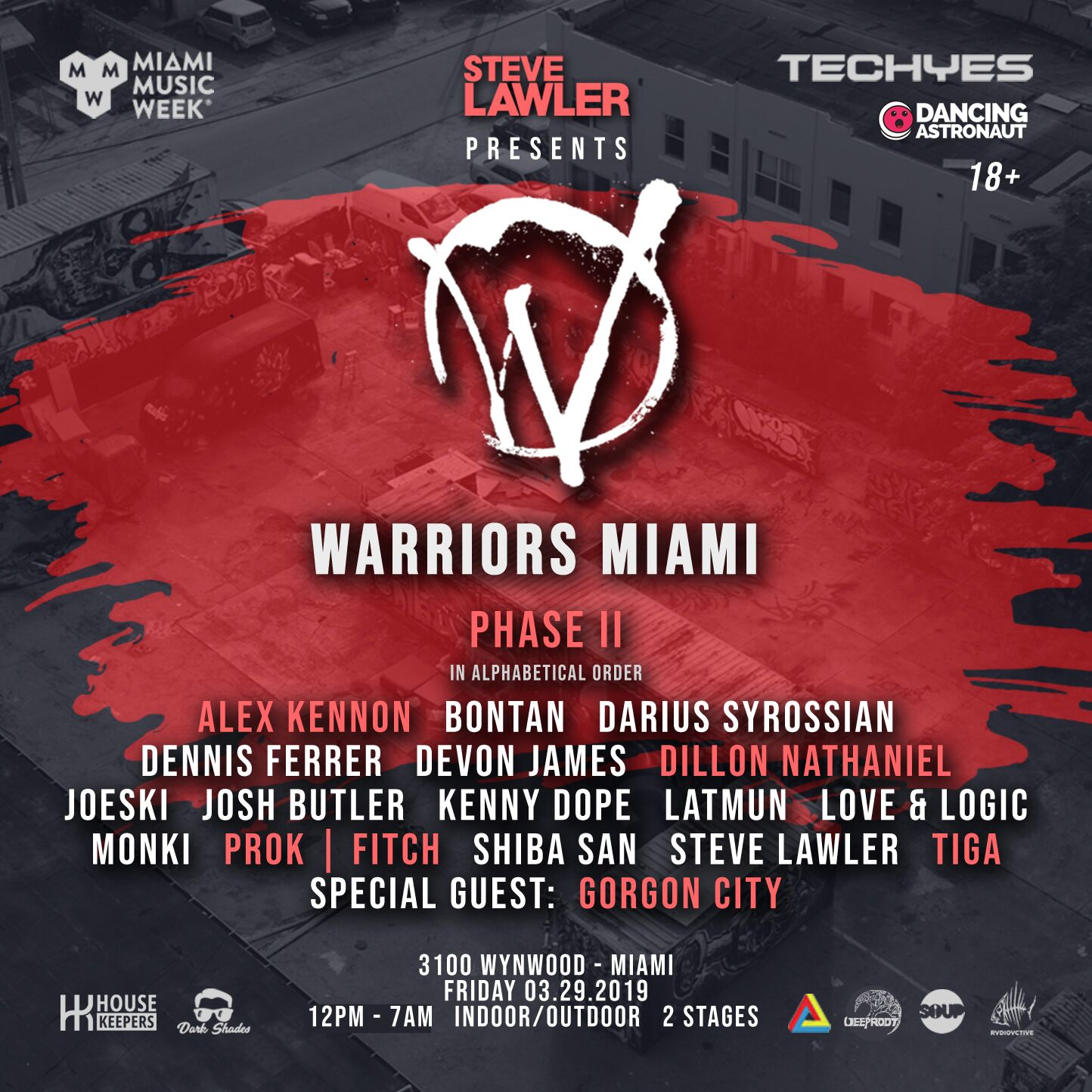 Warriors Miami x Deep Root In The Heat (Gorgon City, Tiga, Dennis Ferrer & More)