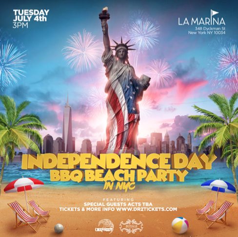 July 4th BBQ Beach Party At La Marina