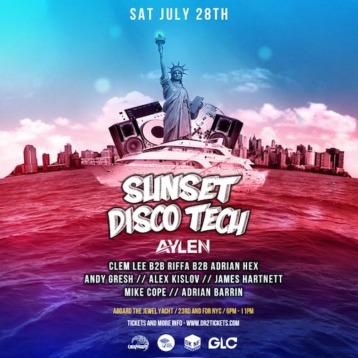Sunset Disco Tech Yacht Party July 28th