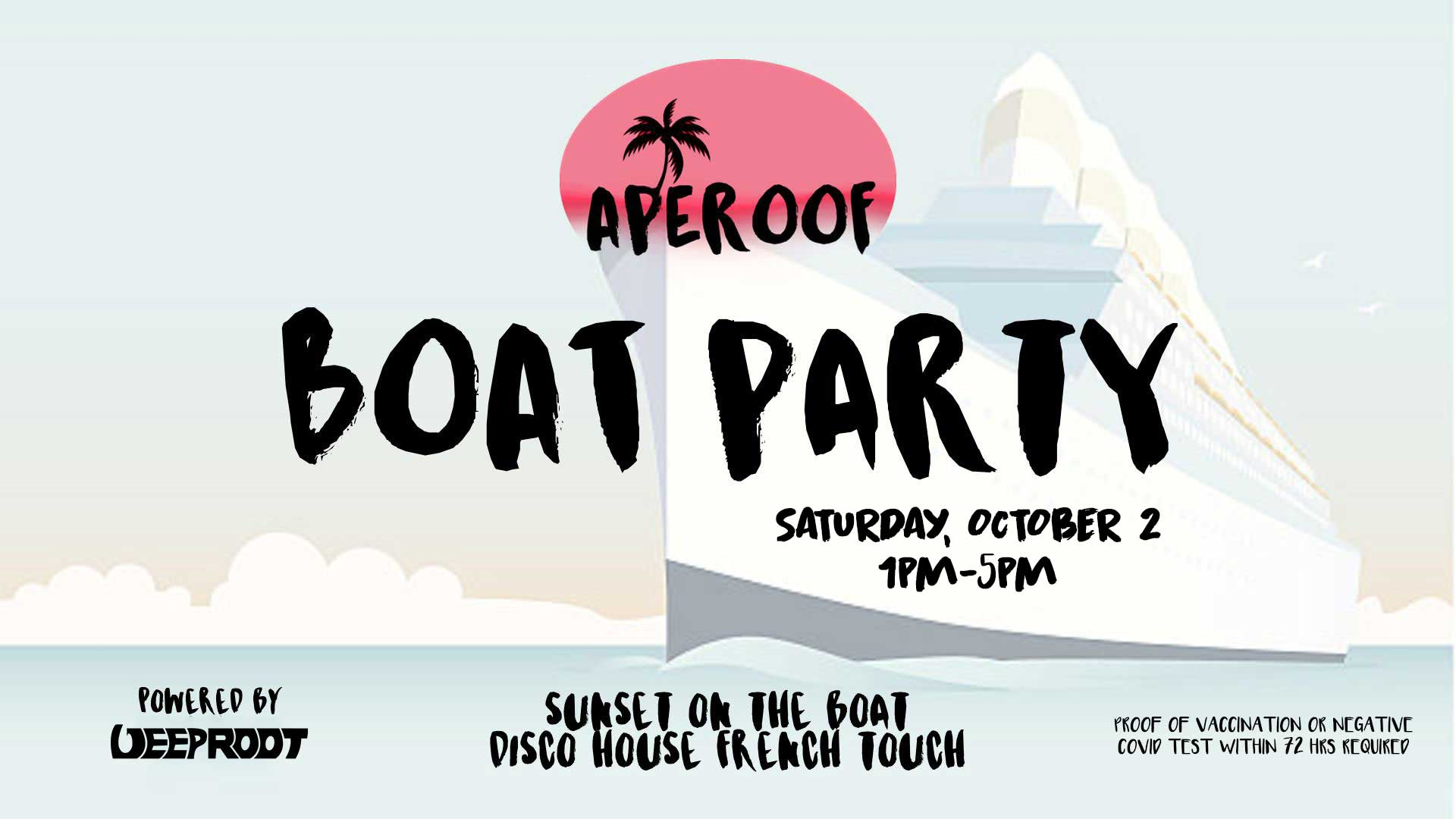 APEROOF On The Boat Powered by Deep Root   Jewel Yacht October 2nd