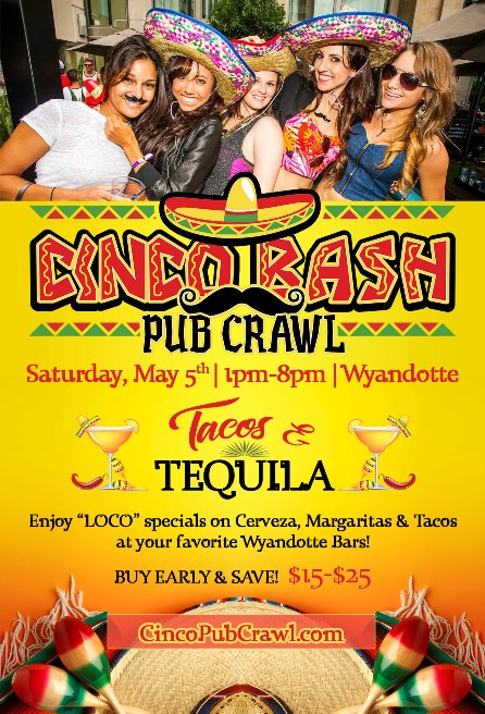 Cinco Bash Pub Crawl 2018 - Wyandotte
