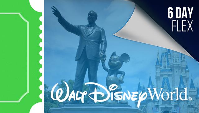 6 Day Disney Flex Ticket