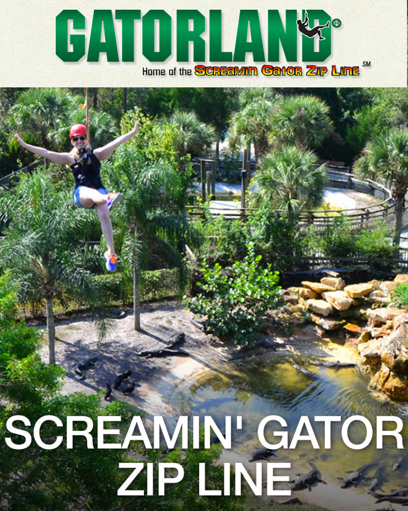 #KGSEC - SCREAMIN' GATOR ZIP LINE + GATORLAND ADMISSION
