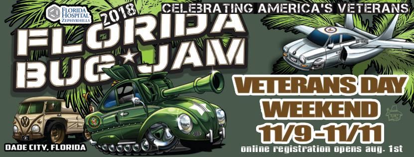 Florida Bug Jam - Car Show Registration - Nov 10th & 11th