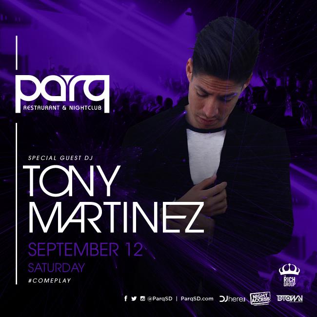 Tony Martinez at PARQ