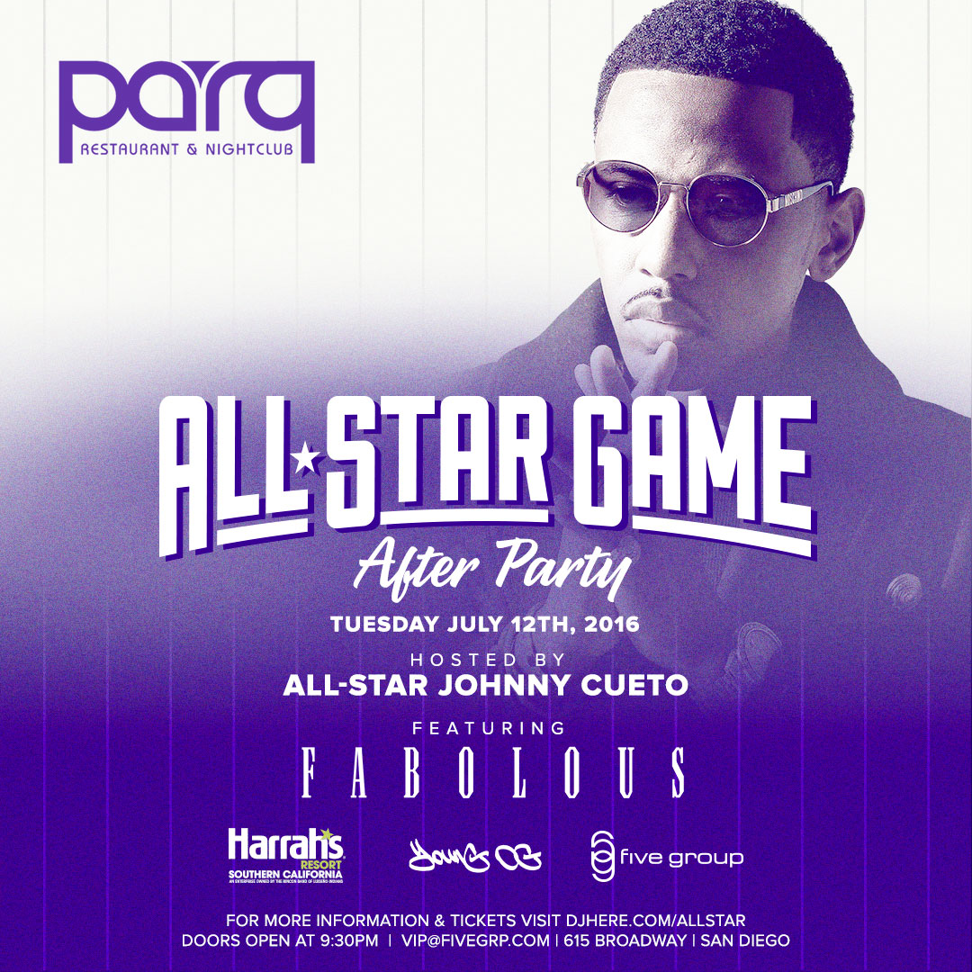 2016 MLB All Star Game After Party w/ FABOLOUS