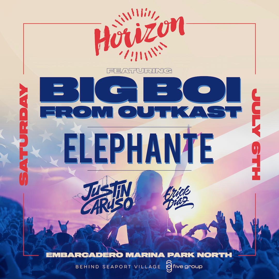 Horizon Music Festival w/ Big Boi + Elephante & Justin Caruso (Independence Weekend)