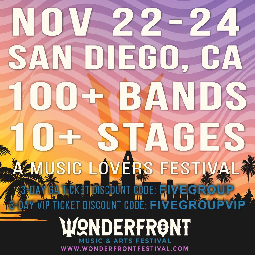 Wonderfront Music & Arts Festival Promo Code