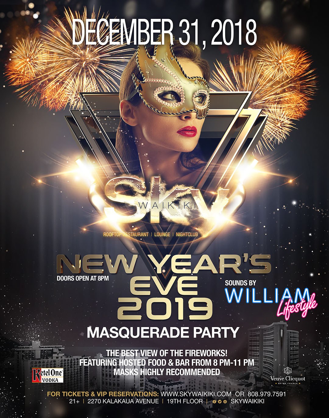 New Year's Eve 2019 Masquerade Party